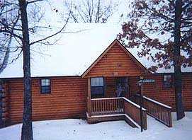Branson rental cabin in the winter